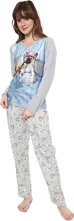 Pzama Pijama Pzama Estampado Cinza/Off-white
