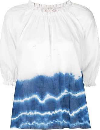 Karen Walker Top con fantasia tie-dye Ultramarine - Di colore bianco