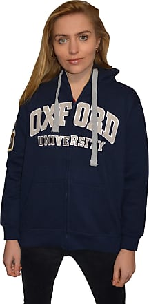 Oxford University Licensed Zipped Unisex Hooded Sweatshirt Navy (XL)