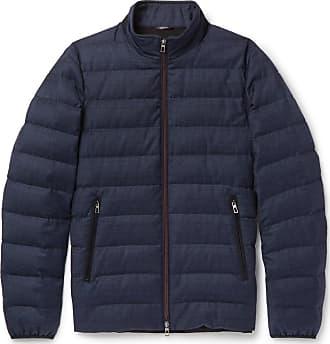 Loro Piana Rain System Wool And Silk-blend Down Jacket - Navy