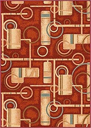 Well Woven 23005 Kings Court Prescott Modern Red Abstract Geometric 5 x 7 Indoor/Outdoor Area Rug