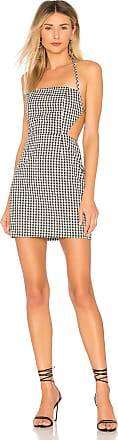 Superdown Elaine Gingham Cut Out Dress in Black & White