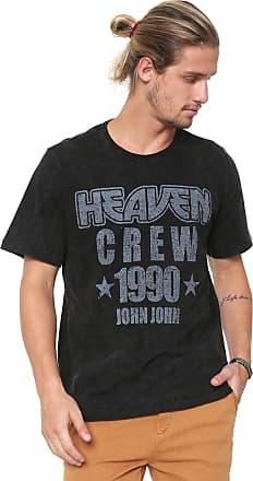 John John Camiseta John John Heaven Crew Preta
