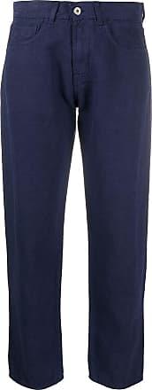 Ymc You Must Create cropped straight trousers - Blue