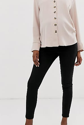Asos Maternity ASOS DESIGN Maternity high rise ridley skinny jeans in clean black with over the bump waistband