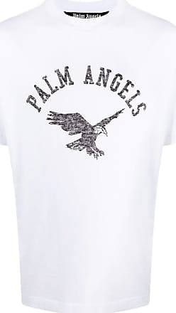 Palm Angels White logo and eagle T-shirt