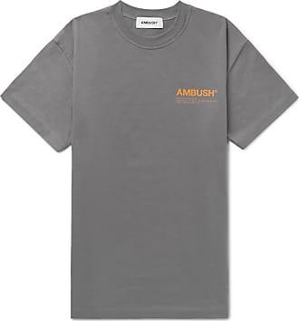 AMBUSH Logo-print Cotton-jersey T-shirt - Gray