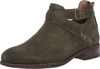 Skechers Womens Sepia-Short Buckled Strap Bootie with Air Cooled Memory Foam Ankle Boot