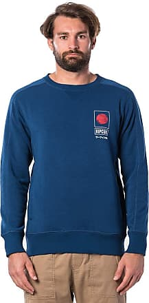 Rip Curl Senpai VPC Crew Men,Sweater,Jumper,Round Neckline,Indigo,S
