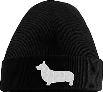 HippoWarehouse Corgi Logo Embroidered Beanie Hat Black