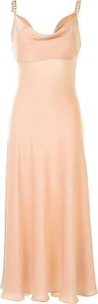 0711 Vestido com decote volumoso - Rosa