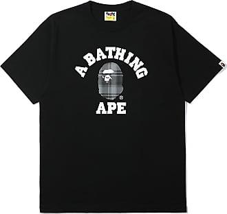 A Bathing Ape Bape check college tee