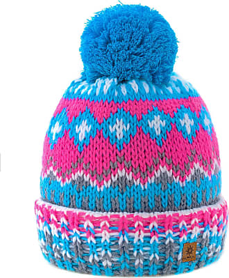 morefaz Women Men Indians Style Worm Winter Beanie Hat Knitted Fleece Lining Pom Pom Ski Hats (Design 15)