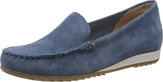 Caprice Womens Inoxy Loafers, Blue (Blue Suede 818), 6.5 UK