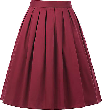 Grace Karin Womens Summer Skirt 50s Vintage A-line Casual Prom Full Circle Skirt