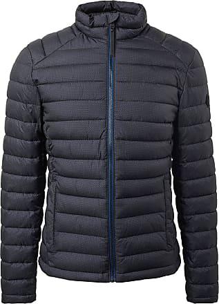 Tom Tailor 1011337 18209 Quilted Jacket Blue Grey Minimal Design - Grey - Large