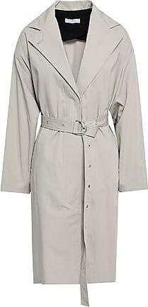 Iro Iro Woman Mamos Cotton-gabardine Trench Coat Stone Size 36