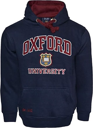 Oxford University OU129 Licensed Unisex Hooded Sweatshirt Navy (XL)