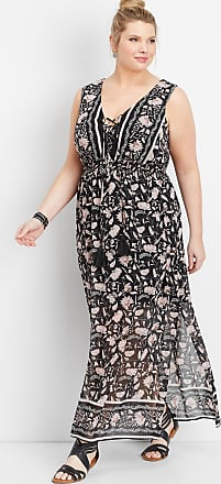 99603ee5fb7 Maurices Plus Size - Lace Up Border Print Maxi Dress