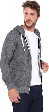 Jack & Jones Moletom Flanelado Aberto Jack & Jones Sweater Male Cinza