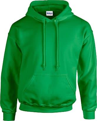 Undercover Gildan Hooded Sweatshirt Heavy Blend Plain Hoodie Pullover Hoody Irish Green 2XL