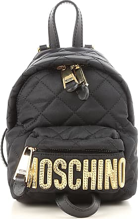 Moschino Backpack for Women On Sale, Black, Fabric, 2017, one size