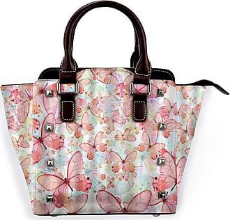 Browncin Pink Butterfly Detachable Fashion Trend Ladies Handbag Shoulder Bag Messenger Bags