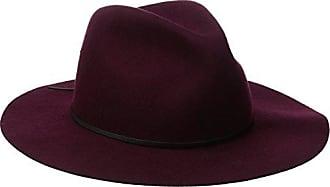 Coal Mens The Dex Wide Brimmed Hat Wool Felt Fedora, Burgundy, Large