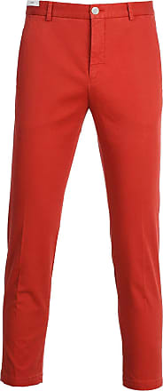 PT01 Fashion Man NT01Z00CHNNK070644 Red Cotton Pants | Spring Summer 20
