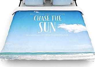KESS InHouse Susannah Tucker Chase The Sun Beach Sky Twin Cotton Duvet Cover, 68 by 88-Inch