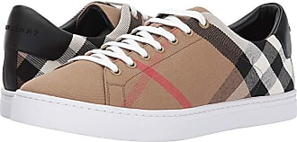 Burberry Albert House Check Low Top (Lacquer Black) Mens Shoes