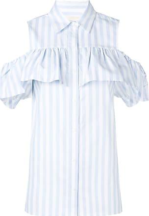 6e2f89156e1943 Michael Michael Kors striped cold shoulder shirt - Blue