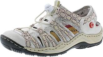 2318a3ad7e43 Rieker L0577-80 Jeersy Off-white Womens Closed Toe Sandals
