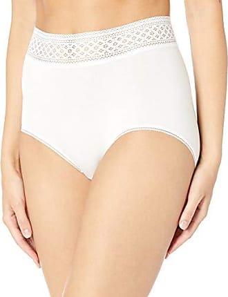 Wacoal Womens Subtle Beauty Brief Panty, White, XL