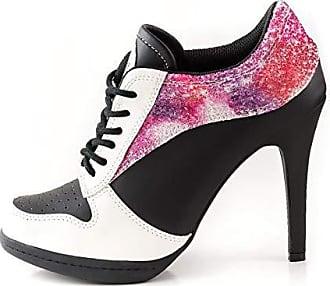 c33d66e258ed92 Missy Rockz Bequeme Sneaker High Heels Damenschuhe Purple Sandstorm schwarz  mit 10