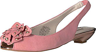 Anne Klein Womens Farrah Suede Pump, Medium Pink, 8.5 M US