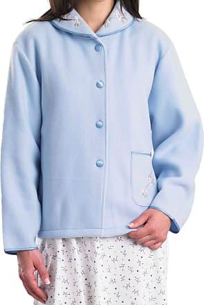 Slenderella Womens Premium Quality Bed Jacket. Super Soft Fleece with Pocket. (24-26, Blue)