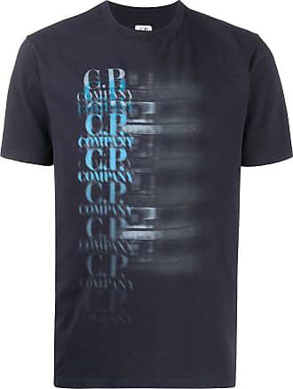 C.P. Company Camiseta com estampa de logo - Azul