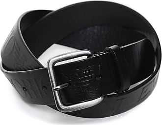 Emporio Armani Armani Mens Leather Maxi Logo Belt 36 Black