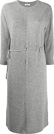 PESERICO Vestido de tricô com recortes - Cinza