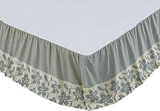 VHC Brands Farmhouse Briar Tan Bed Skirt, Twin, Sage