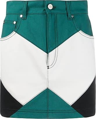 Kirin Saia jeans color block - Verde