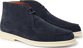 a18321c7919 Loro Piana Walk And Walk Suede Chukka Boots - Navy
