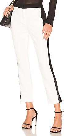 Tibi Skinny Tuxedo Pant in Ivory