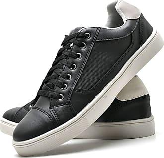 Juilli Sapatênis Sapato Casual Masculino Com Cadarço JUILLI 04DB Tamanho:44;cor:Preto;gênero:Masculino