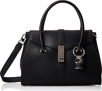 Guess Womens L Sch Asher Satchel Bag BLACK-BLA One Size
