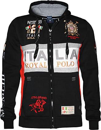Geographical Norway Men Designer Hoodie Jacket - FILIO -3XL Black