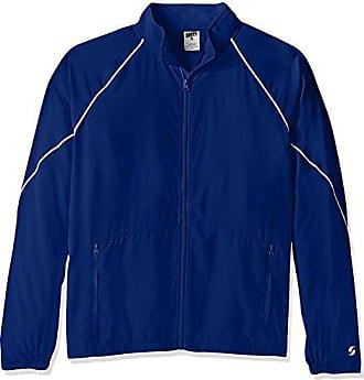 Soffe Mens Adlt Warm Up Jacket, Royal, X-Large