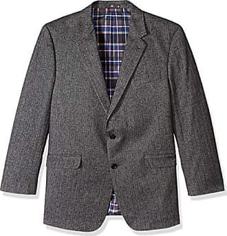 U.S.Polo Association Mens Portly Wool Blend Sport Coat, Grey Herringbone, 42 Short
