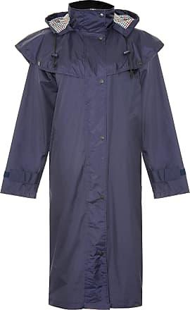 Champion Ladies Sandringham Full Length Waterproof Coat with Detachable Hood (Navy) 14